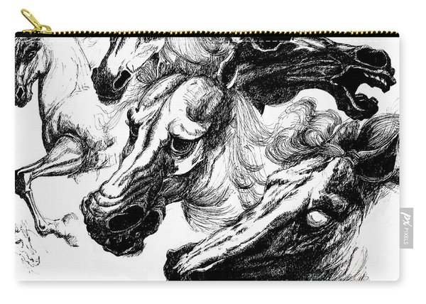 Horse Ink Drawing  Carry-all Pouch