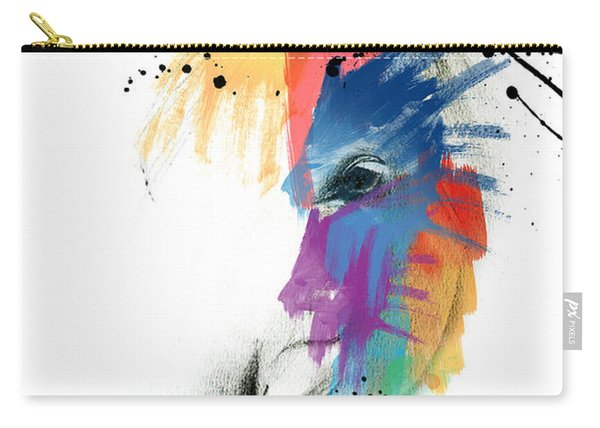 Horse On Abstract   Carry-all Pouch