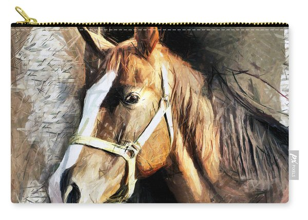 Horse Portrait - Drawing Carry-all Pouch