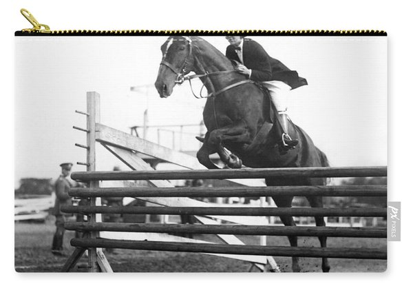 Horse Taking Jump Carry-all Pouch