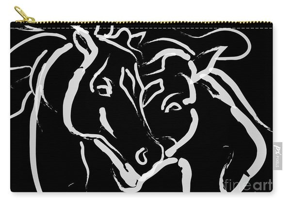 Horse- Together 5 Carry-all Pouch