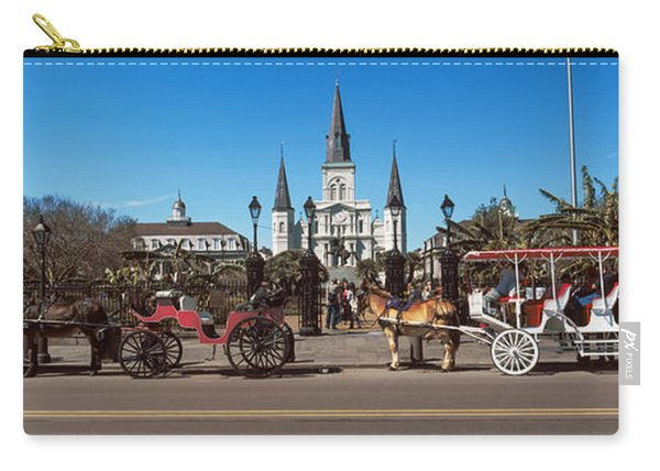 Horsedrawn Carriages On The Road Carry-all Pouch
