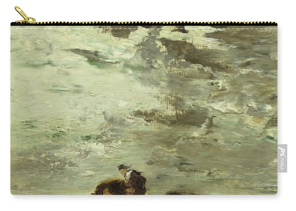 Horseman Oil On Canvas Carry-all Pouch
