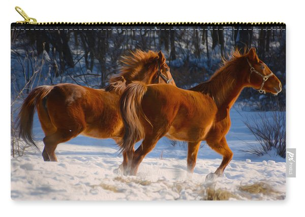 Horses In Motion Carry-all Pouch
