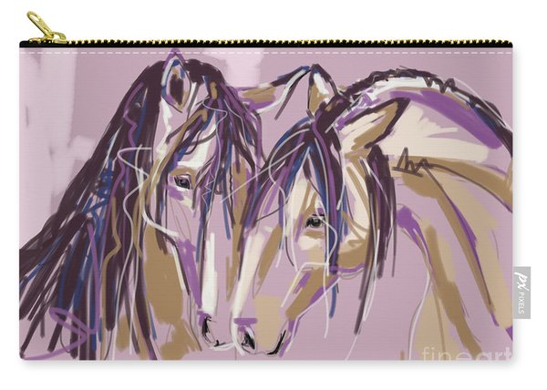 horses Purple pair Carry-all Pouch