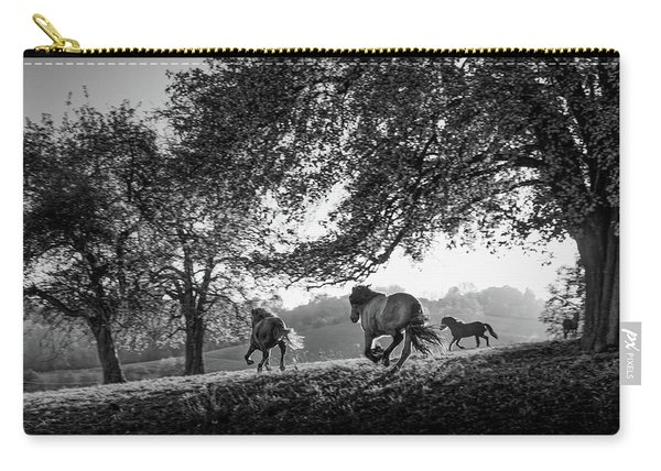 Horses Running At Sunset, Baden Carry-all Pouch