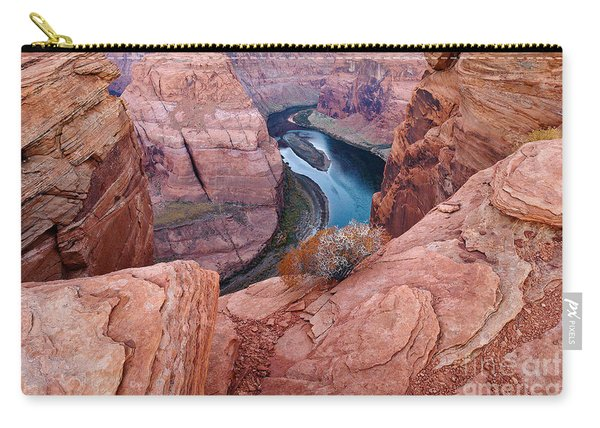 Carry-all Pouch featuring the photograph Horseshoe Bend At Dawn by Mae Wertz