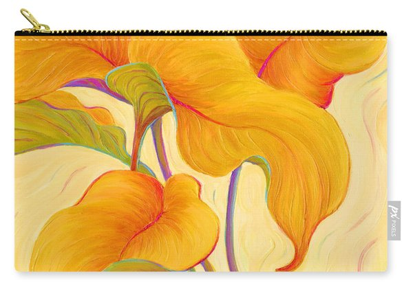 Carry-all Pouch featuring the painting Hosta Hoofers by Sandi Whetzel