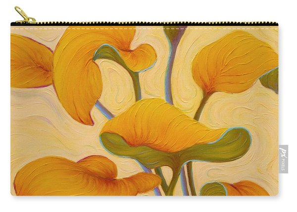Carry-all Pouch featuring the painting Hosta Hoofin' by Sandi Whetzel