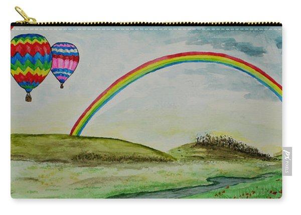 Hot Air Balloon Rainbow Carry-all Pouch