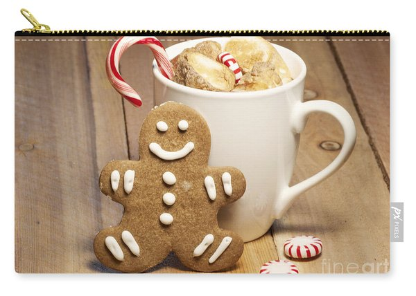 Hot Chocolate Toasted Marshmallows And A Gingerbread Cookie Carry-all Pouch