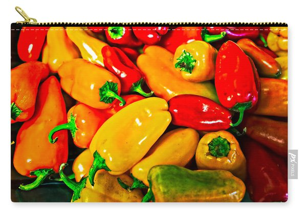 Hot Red Peppers Carry-all Pouch