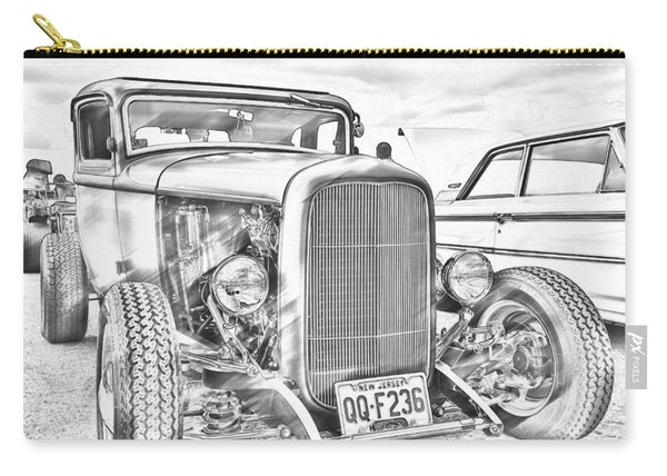 Hot Rod Faux Sketch Carry-all Pouch