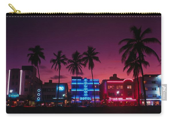 Hotels Illuminated At Night, South Carry-all Pouch