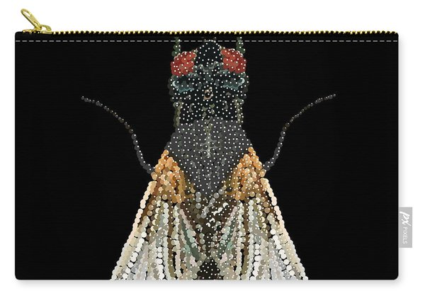 House Fly Bedazzled Carry-all Pouch
