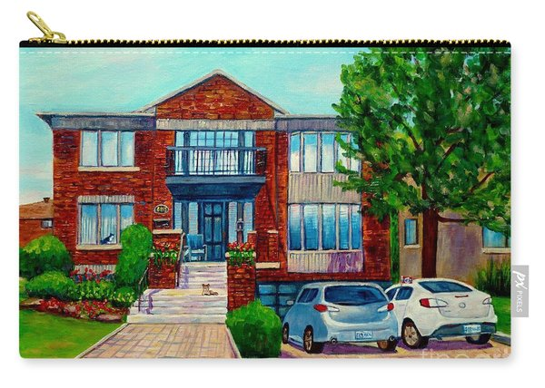 House Portrait-house  Art-commissioned  Montreal Paintings-carole Spandau Carry-all Pouch