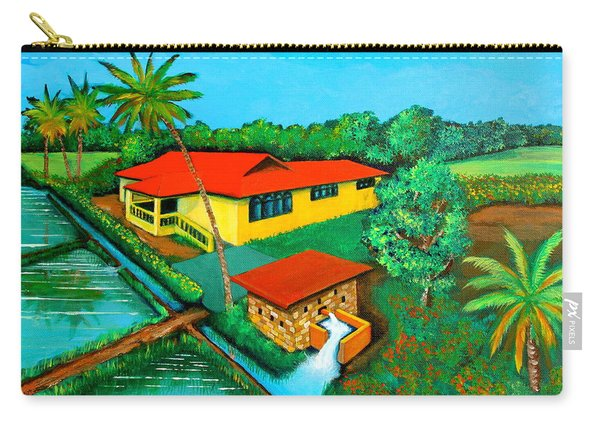 House With A Water Pump Carry-all Pouch