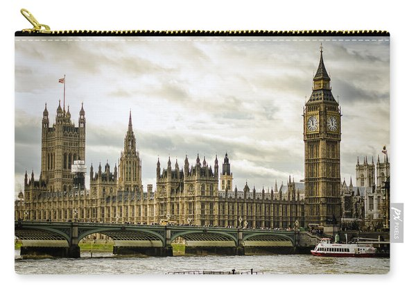 Houses Of Parliament On The Thames Carry-all Pouch