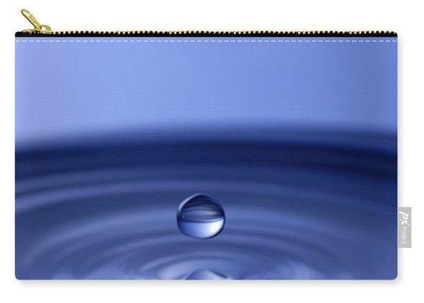 Hovering Blue Water Drop Carry-all Pouch