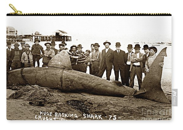 Huge Basking Shark Near Fishermans Wharf Monterey California Circa 1912 Carry-all Pouch