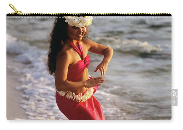 Hula Dancer Hawaii At Waters Edge Surf Carry-all Pouch
