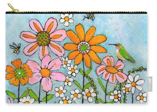 Hummingbird And Bees Carry-all Pouch