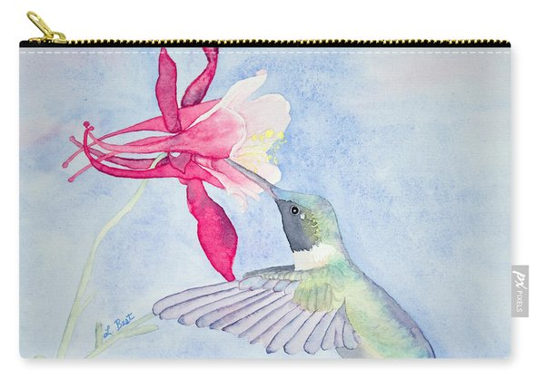 Hummingbird And Columbine Carry-all Pouch
