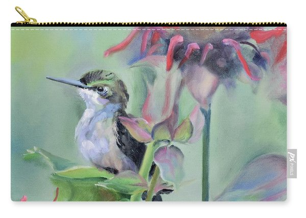 Hummingbird And Coneflowers Carry-all Pouch