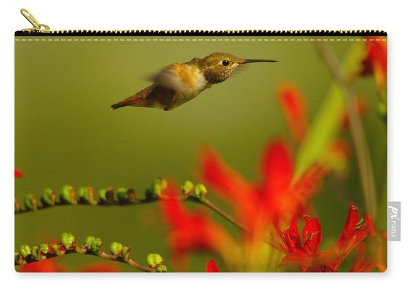 Hummingbird In A Rush Carry-all Pouch