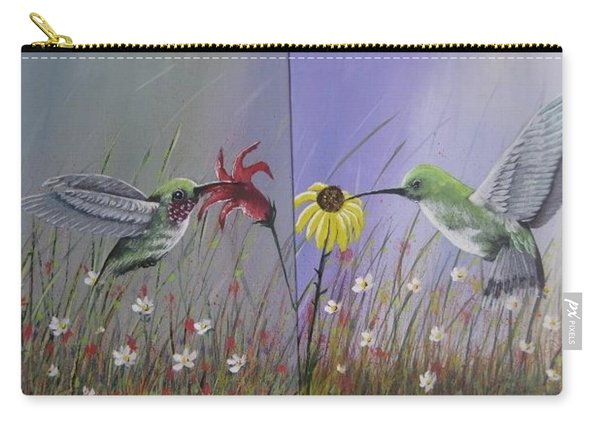 Hummingbird Pair Carry-all Pouch