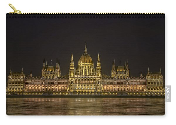 Hungarian Parliament Building Night Carry-all Pouch