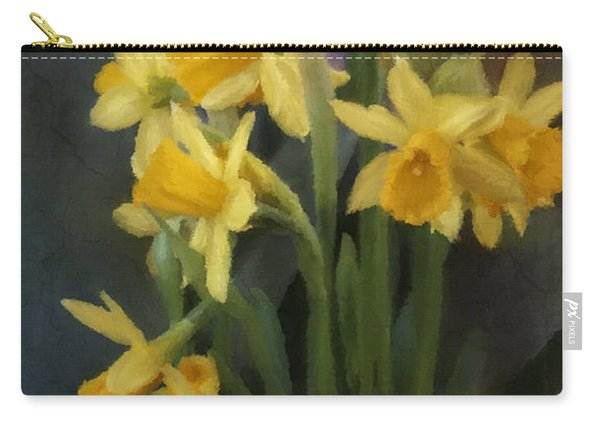 I Believe - Flower Art Carry-all Pouch