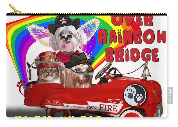 I Helped My Pet Cross Rainbow Bridge Carry-all Pouch