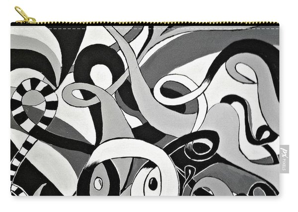 Black And White Acrylic Painting Original Abstract Artwork Eye Art  Carry-all Pouch
