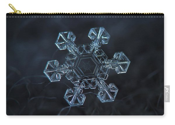 Snowflake Photo - Ice Crown Carry-all Pouch