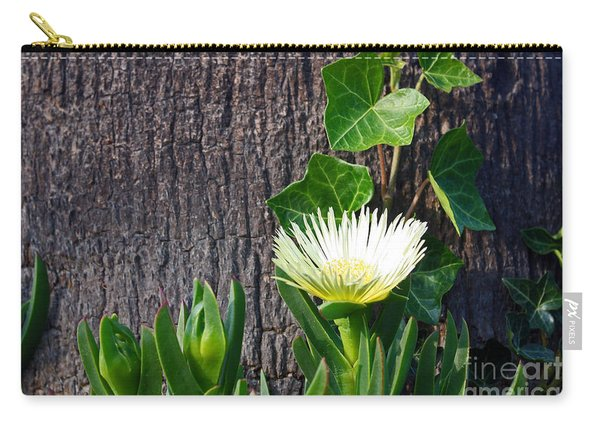 Ice Flower With Vine Carry-all Pouch