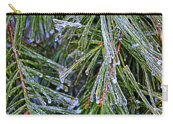 Ice On Pine Needles  Carry-all Pouch