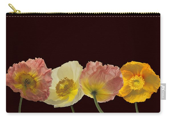 Iceland Poppies On Black Carry-all Pouch
