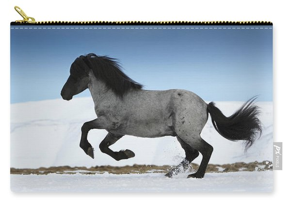 Icelandic Horse Running, Iceland Carry-all Pouch