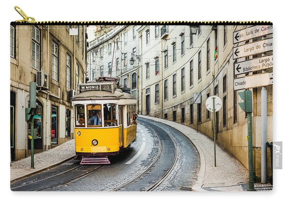Iconic Lisbon Streetcar No. 28 IIi Carry-all Pouch