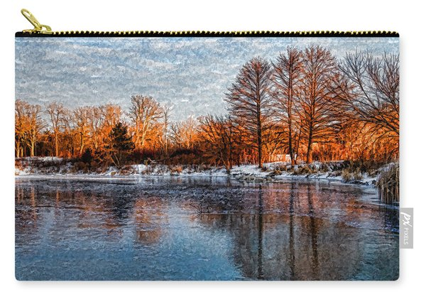 Icy Reflections At Sunrise - Lake Ontario Impressions Carry-all Pouch