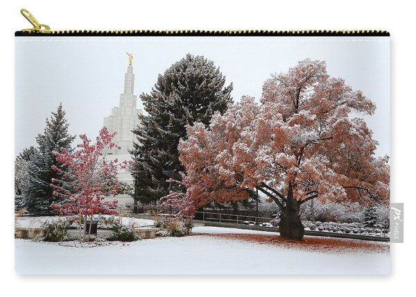 Idaho Falls Temple Winter Carry-all Pouch