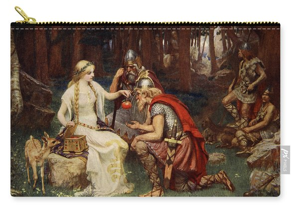 Idun And The Apples, Illustration Carry-all Pouch