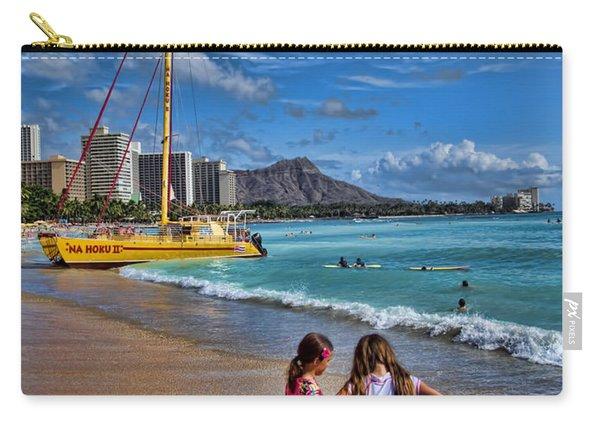 Idyllic Waikiki Beach No 2 Carry-all Pouch
