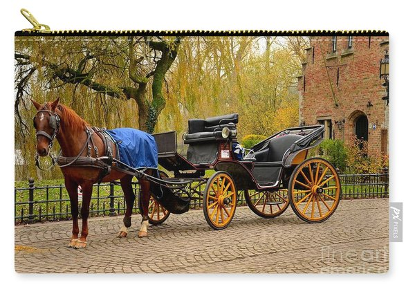 Immaculate Horse And Carriage Bruges Belgium Carry-all Pouch