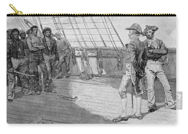 Impressment Of American Seamen, Illustration From Our Countrys Cradle By Thomas Wentworth Carry-all Pouch