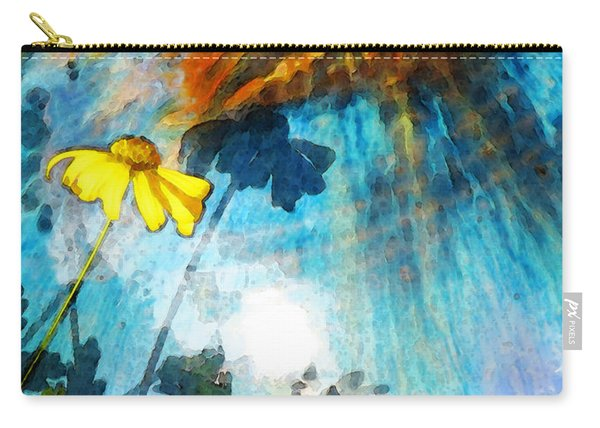 In My Shadow - Yellow Daisy Art Painting Carry-all Pouch
