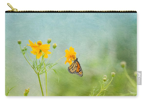 In The Garden - Monarch Butterfly Carry-all Pouch
