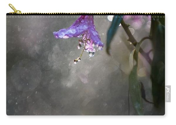 Carry-all Pouch featuring the photograph In The Morning Rain by Jaroslaw Blaminsky