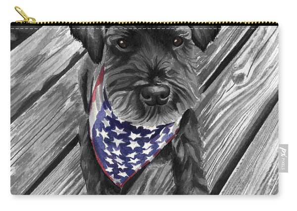 Watercolor Schnauzer Black Dog Carry-all Pouch